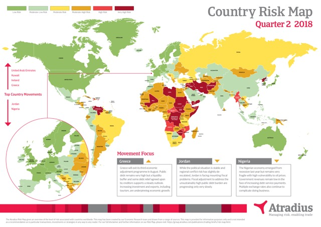 Risk Map Q2 2018